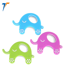 round shape finger silicone pendant teether