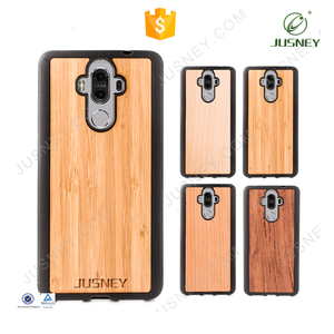 2018 new wholesale real wood phone case for huawei P10 lite Mate 8 phone case cover tpu soft hand case for huawei p10
