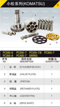hydraulic pump hydraulic parts for KOMATSU PC200-6 PC200-7 PC220-7/8 PC300-7 PC300-8 PC400-7
