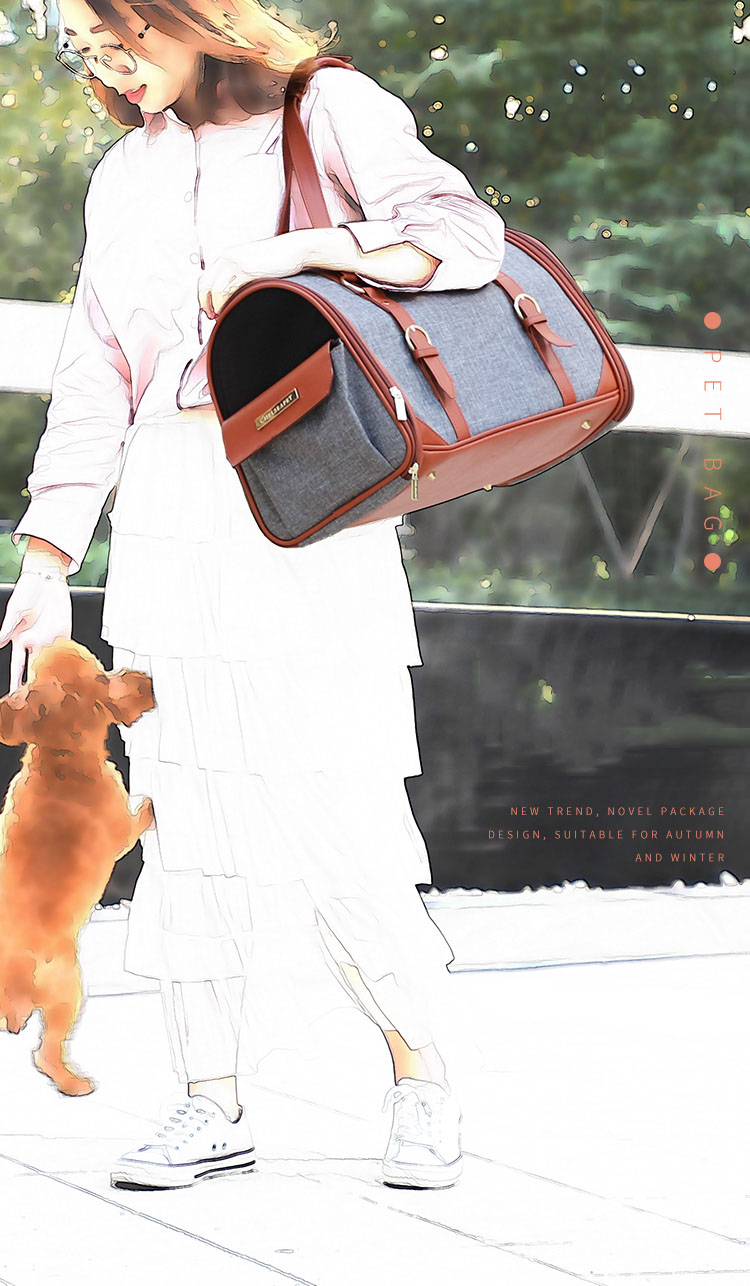 2 tones handle keep calm sleeping luxury dog carrier bag portable foldable pet cat handbag