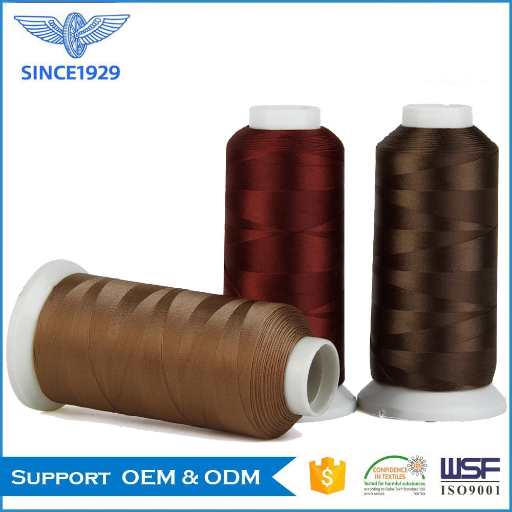 HT polyester filament thread for shoe making