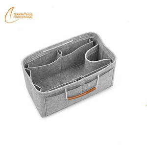8f480c47f7 Felt Material Travel Organizer Bag Purse Insert Felt Cosmetic Bag With  Handle