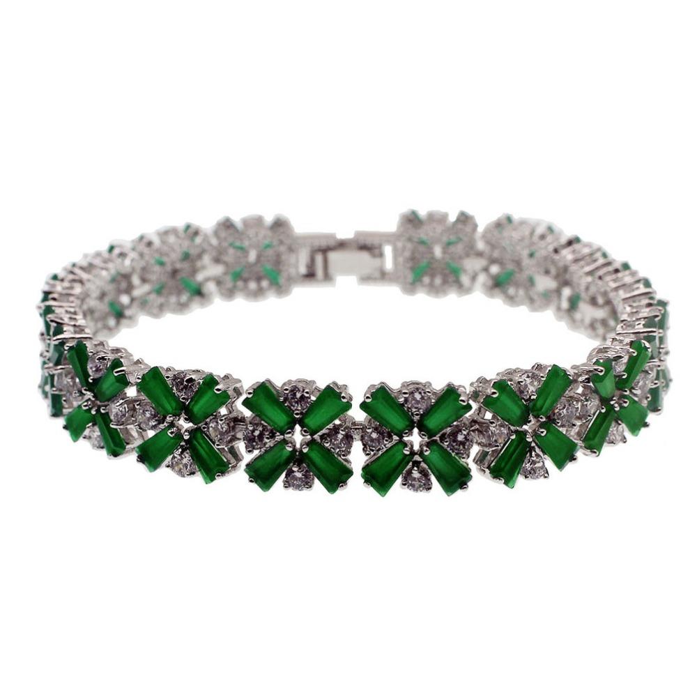 34a853707a02 Hermosa pulsera de plata 925 zafiro granate Esmeralda amatista Morganite  Peridot Topacio blanco pulsera 7
