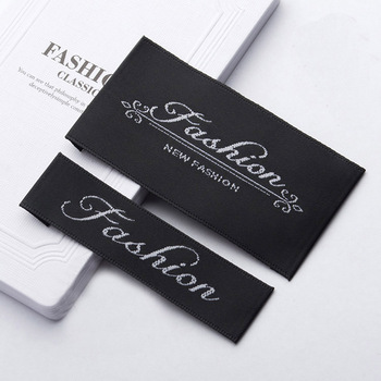 Custom Damask Woven Clothing Label For Woven Labels Clothing,satin labels,Woven Damask Label