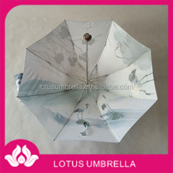 23'' Promotional Auto Open Fashion 3 or 5 Folding Umbrella
