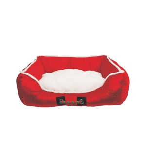 High Performance Polyester Holiday Christmas Red Dog Bed