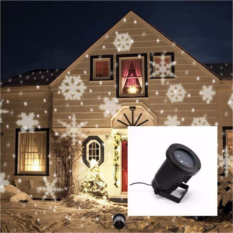 outdoor led snowflake lamp for homegardon;Self-change