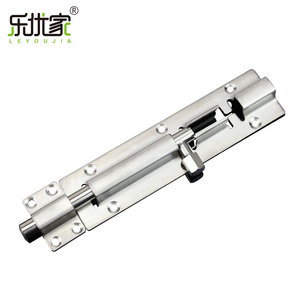 Factory wholesale stainless steel bathroom security barrel bolt lock tower bolt for door