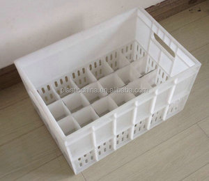 Hot Sales Food Grade solid plastic milk crate for bottles