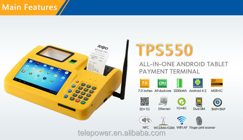 Telepower Tps550 Pos Android Tablets/smartphones Printer Dual Sim ...