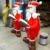 Fiberglass Coloured Santa Claus Sculpture For Christmas Decoration