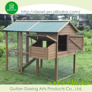 DXH005 Professional Made Natural Color Pets Cage Cheap Wooden Chicken Coop