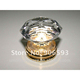 Crown shape crystal cabinet door knob 35mm on brass base