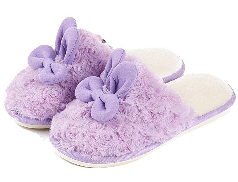 3eaaaa2159a Get Quotations · Cattior Womens Cute Warm Bunny Slippers Fluffy Slippers