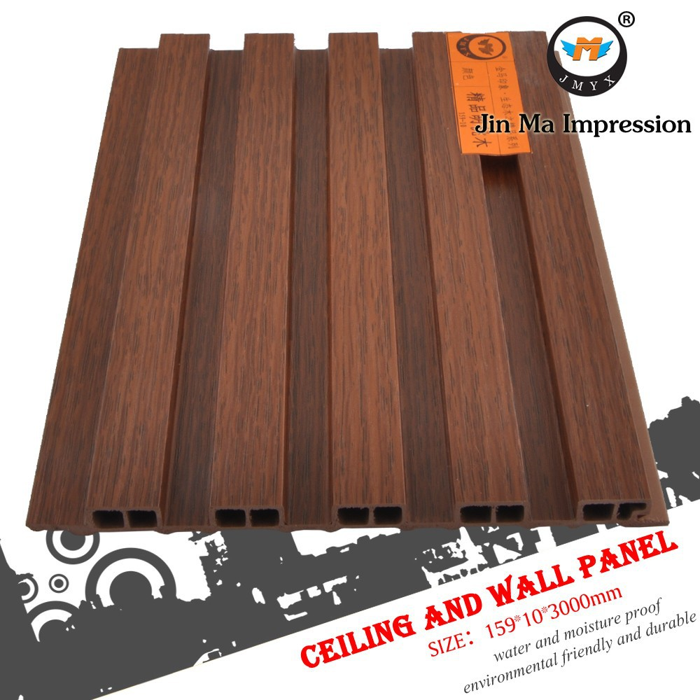 Vert bois composite wpc plastique faux plafond pvc panneau for Faux plafond plastique