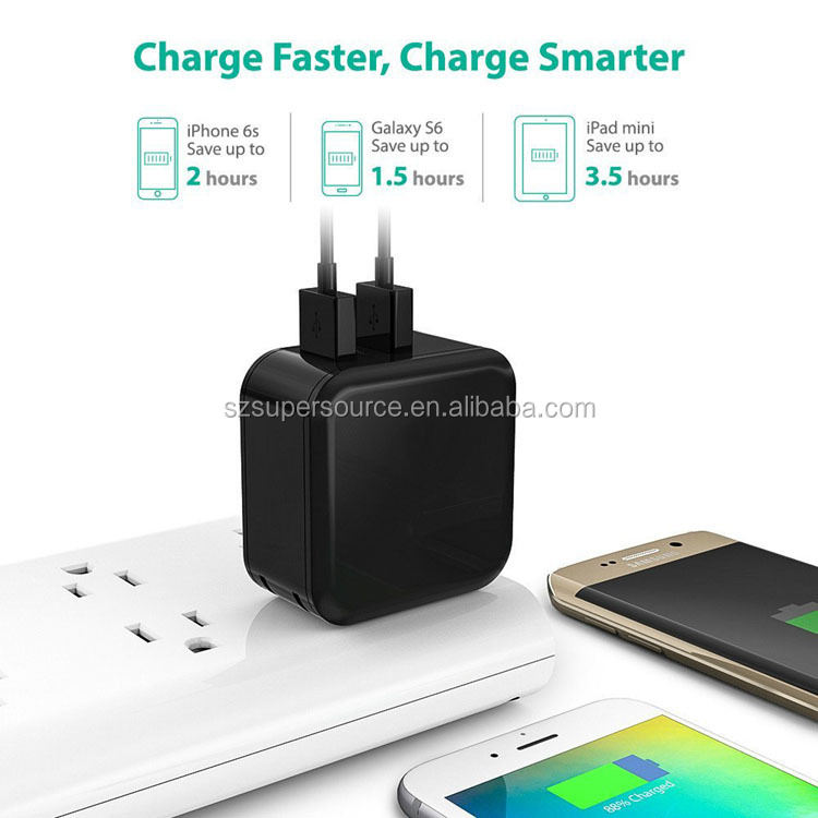 High Speed 4.8a/24w Usb Power Adapter Smart Cellphone Charger For ...