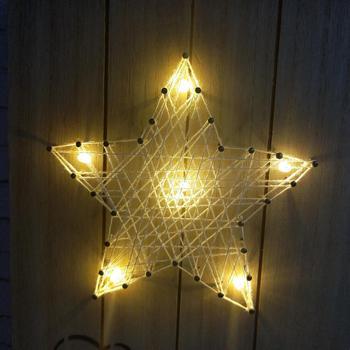 Led Light Star Wall Art With String Nail - Buy String Nail Wall Art ...