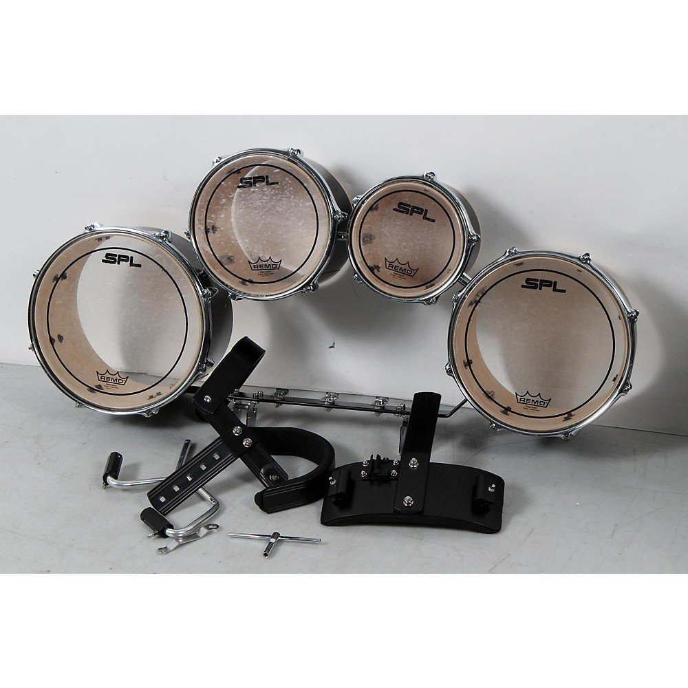 Sound Percussion Labs Birch Marching Quads with Carrier Level 3 8 in.,10 in.,12 in.,13 in., Black 190839084033