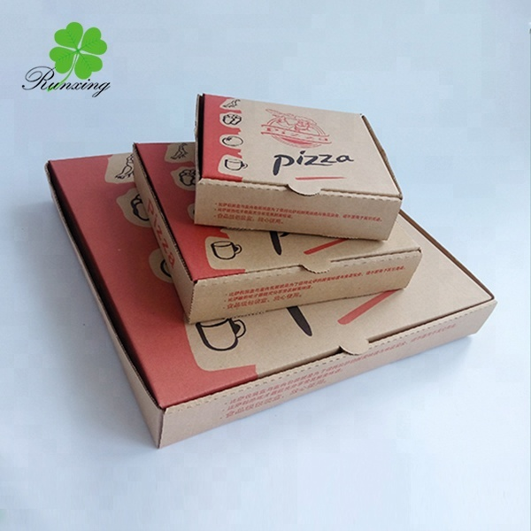 White plain cheap pizza packaging box