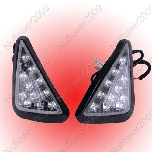 2 Motorcycle Triangle Flush Mount Turn Signal Light for Honda CBR 600 RR 01-06 For Suzuki GSR 750 1000 For Yamaha R1