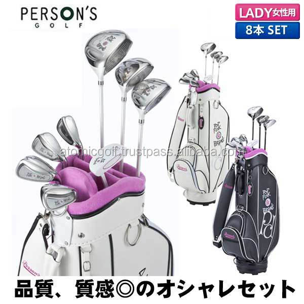 [lady's golf club set] Persons Golf PSL-2012 club set 8 pcs (1W, 4W, 7W, # 7, # 9, PW, SW, PT) with carbon shaft caddy bag