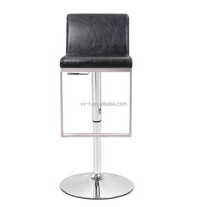 Funky Faux Leather Modern Wine Bar Furniture Adjustable Bar Chair