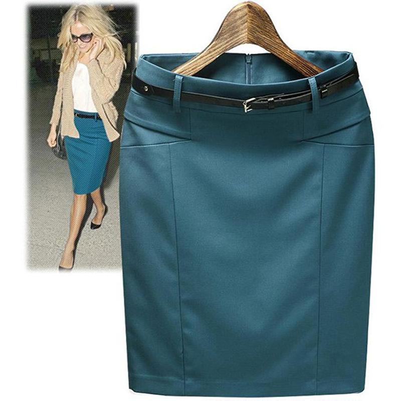Plus Size XXXL short saias femininas 2016 Summer High Waist Formal Pencil Skirts Womens Office Wear