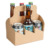 Craft corrugated 6 pack beer carrier box portable beer and beverage packaging box