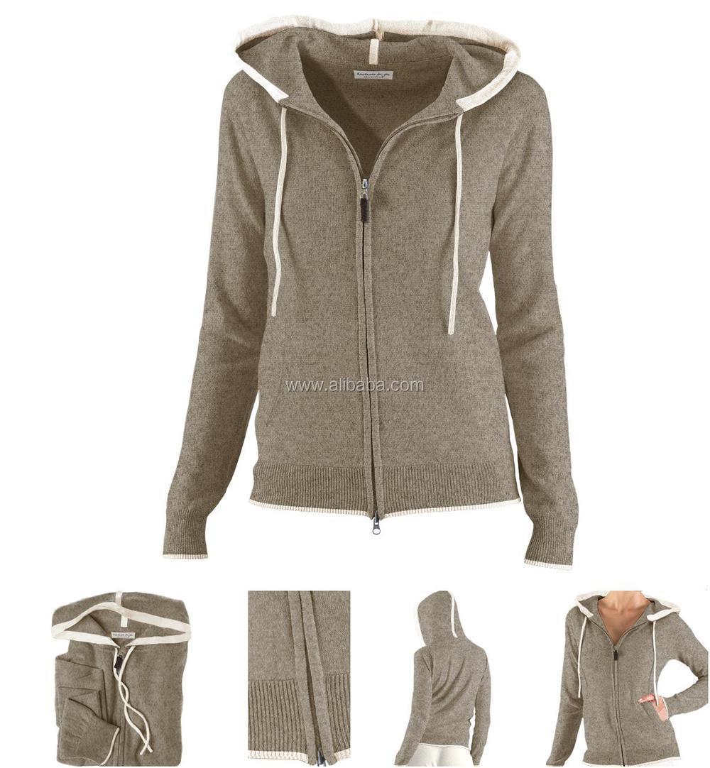 Merino Wol Trui Dames.100 Merino Wol Van Hoge Kwaliteit Dames Sweater Met Capuchon Jas