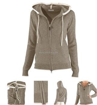 Merino Trui Dames.100 Merino Wol Van Hoge Kwaliteit Dames Sweater Met Capuchon Jas