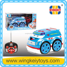four channel funtions 4CH rc remote radio control cartoon toy Car with music light for kids children