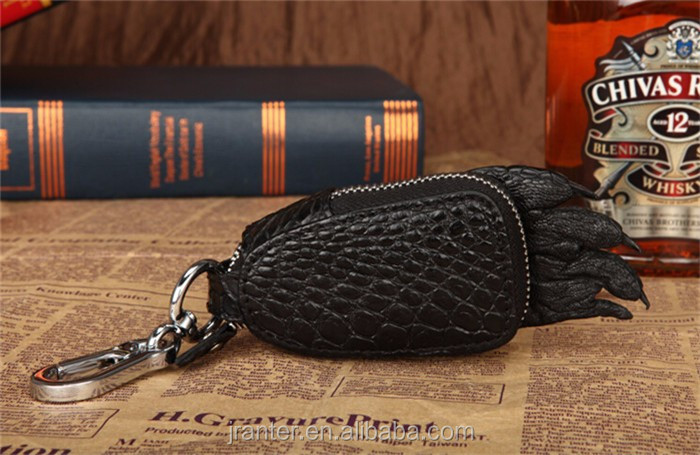 2016 Hot Sale Custom brand logo crocodile leather key case for car