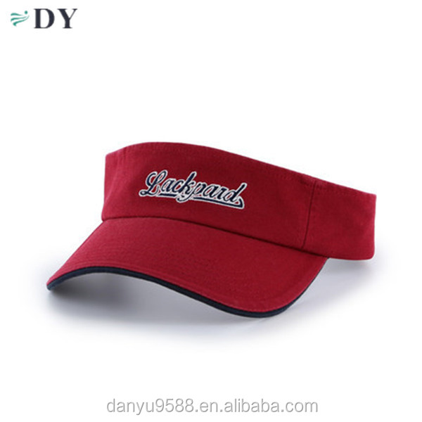 Custom printed high quality golf sun visor wholesale visor hat/cap sports cap