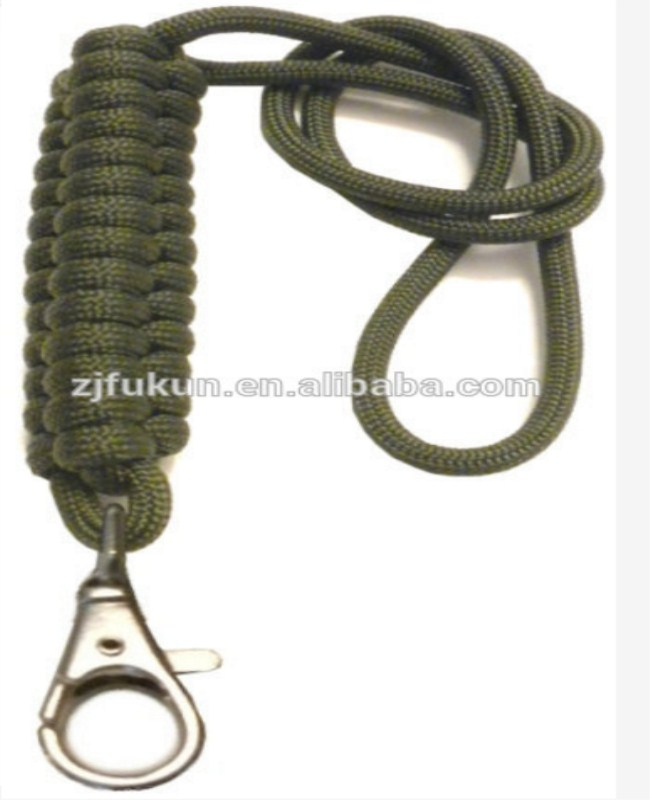 Fashion Logo Custom Available New Design Paracord Braid Neck Lanyards Survival Paracord Lanyards