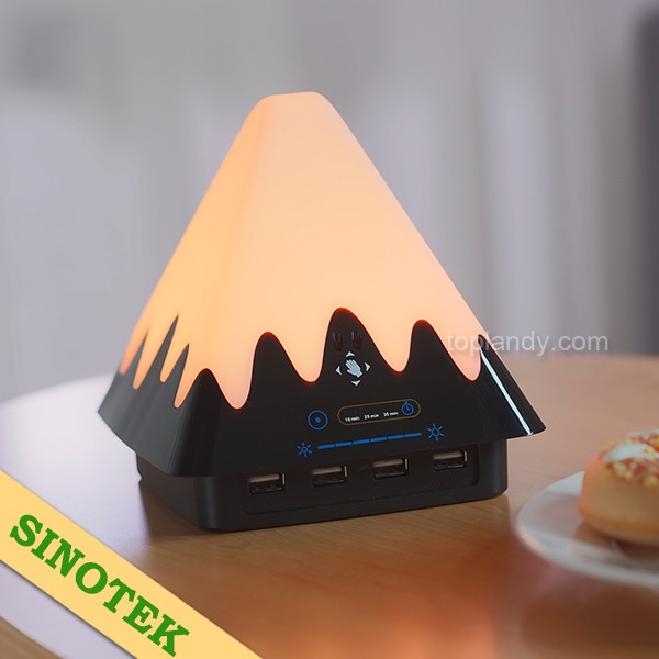SINOTEK charging station with LED lamp 4 port usb fast charger
