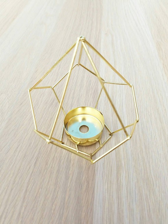 Small Gold Geometric Candle Holder Or Hanging Planter Decorate Buy