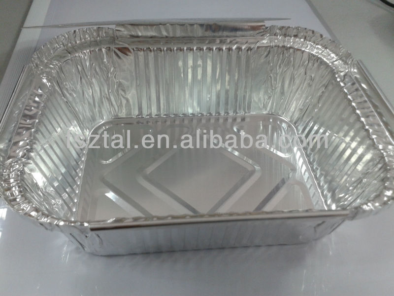 airline coated aluminum foil food packaging container