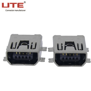mini usb connector with a/b male female port plug to color code wiring cord