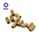 customized knurling brass threaded inserts nut for plastic