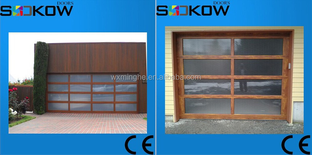 Aluminum Frame Tempered Glass Garage Door/glass Garage Doors/aluminum Frame Glass  Garage Doors