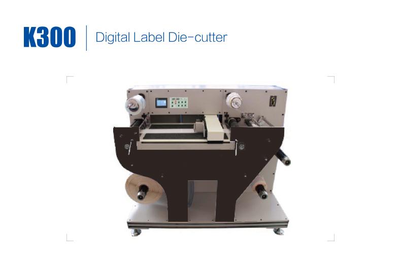 K300 rulodan ruloya dijital etiket kalıp kesici/dijital kalıp kesme makinesi/Dijital döner Etiket kalıp kesim sticker makinesi
