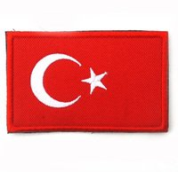 Custom Made National Flag Various Embroidery Patch Woven Label Badges