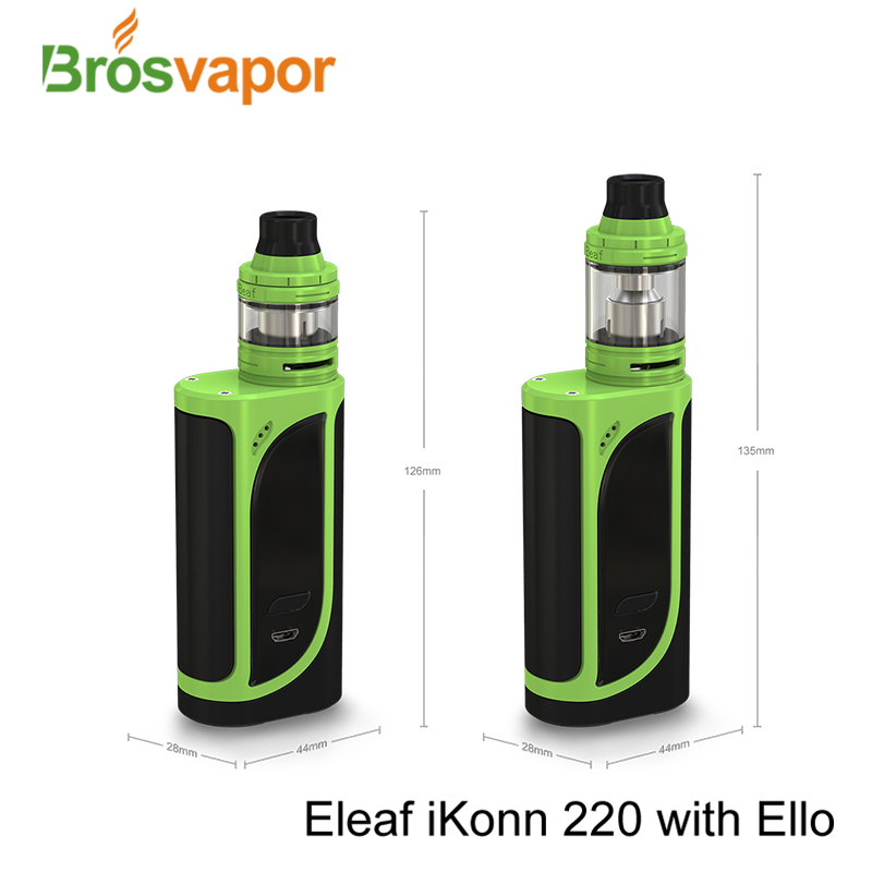 Brosvapor Top selling Eleaf 220w mod Eleaf iKonn 220 Kit with ELLO tank/ELLO Mini tank in stock