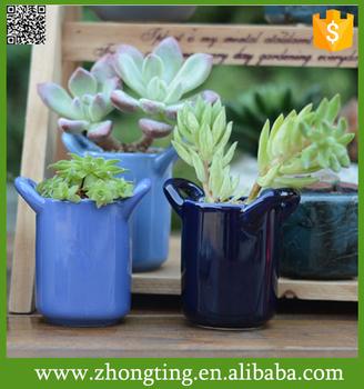 Decoratif A La Maison Petit Pot De Fleur En Ceramique Vietnamien