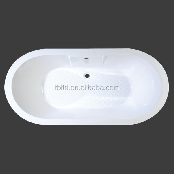En plastique grande baignoire pour adulte longues ronde acrylique baignoire de fiber de verre for Comgrande baignoire plastique