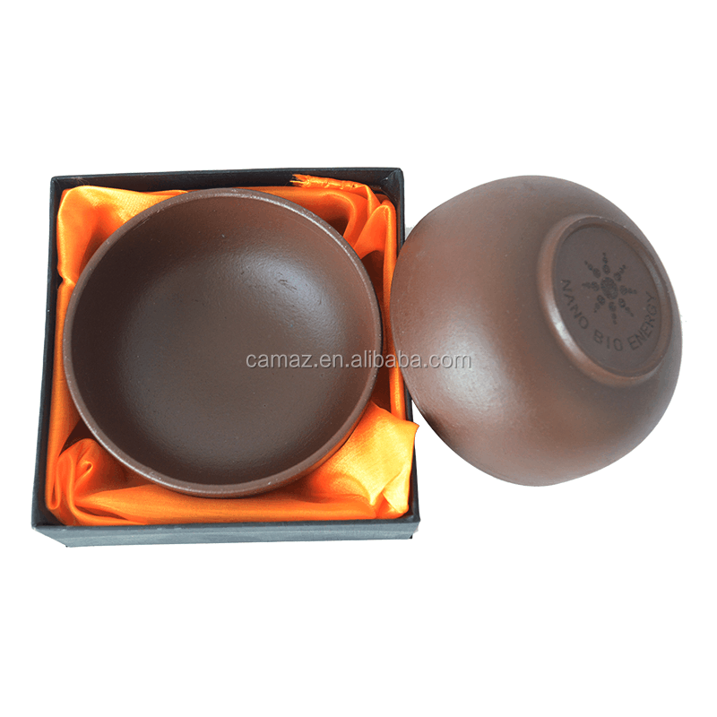 Brown scalar energy ceramic bowl with tourmaline, View energy ceramic bowl,  CAMAZ Product Details from Guangzhou Camaz Health Care Co , Ltd  on