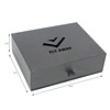 Black drawer luxury clothing packaging box