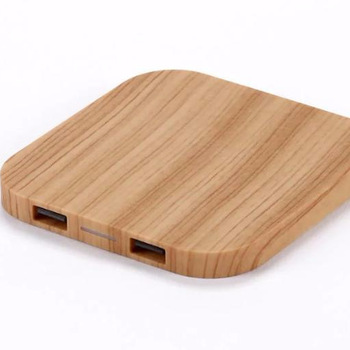 2019 wooden colour wireless charger for gifts for samsung for Iphone