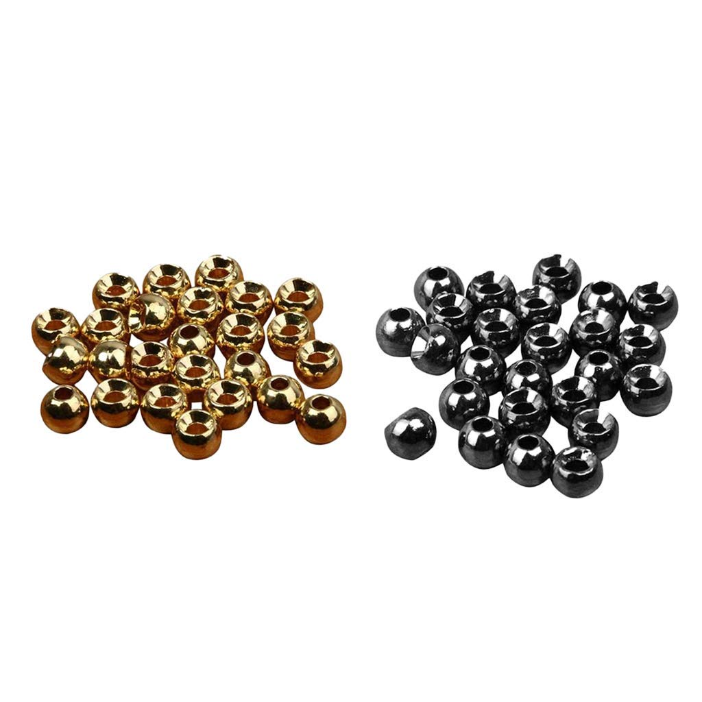 Tungsten Fly Tying Beads 50//100pcs Silver Fast Sink Nymph Head Ball Beads