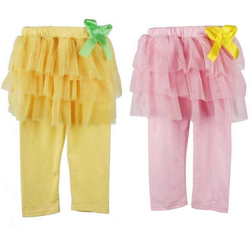 b8bf18e428066 Get Quotations · 2015 Baby Girl Legging Pantskirt Culottes Leggings Gauze  Pants Party Skirts Bow Tutu Skirt Baby Girl